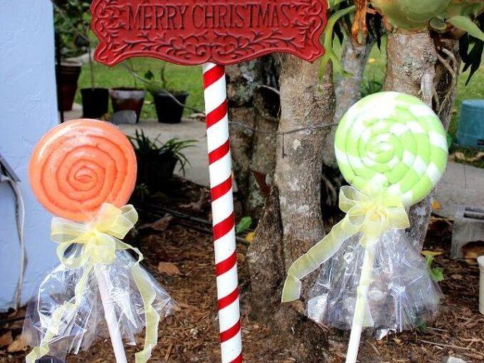 christmas lollipops and pole