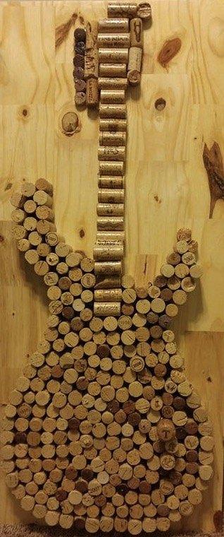 corks corks more corks, Cork Guitar Wall Decor or Memo Board