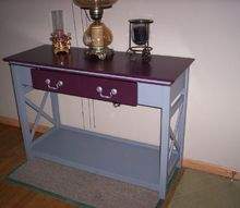 cheap free mdf table to console table, painted furniture