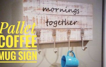 Pallet Sign With Silverware Hooks for a Kitchen