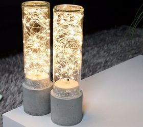 DIY Concrete Lamp - Led String Light | Hometalk