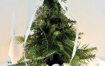 mini christmas tree from clippings