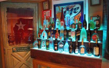 Lighted 3 Tier Liquor Display Stand