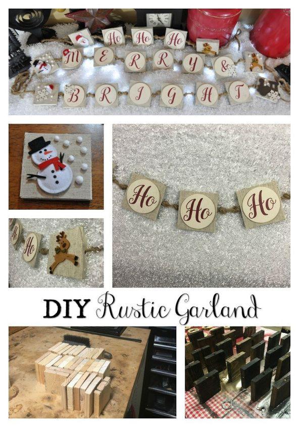 diy christmas rustic garland