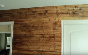 DIY Rustic Wood Wall Under $40