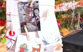 Farmhouse Holiday Card and Photo Holder From Salvaged Wood