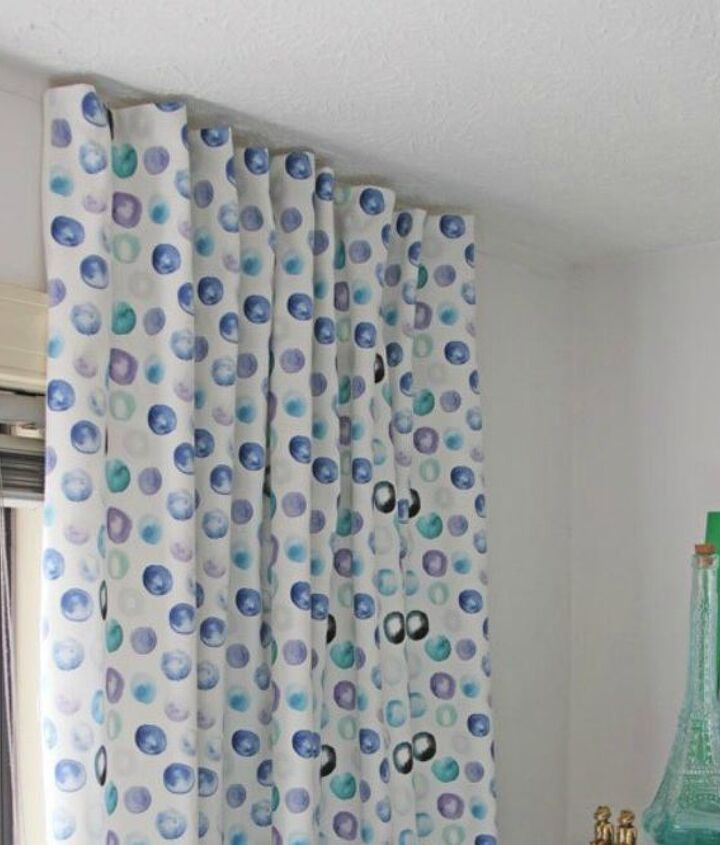 s 14 brilliant command hook hacks for your home, home decor, Create perfectly pleated curtains