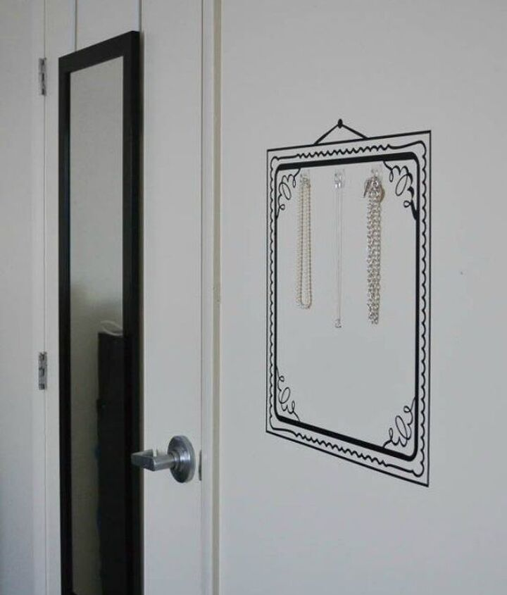 s 14 brilliant command hook hacks for your home, home decor, Hang your long necklaces and jewelry