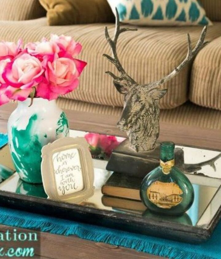 s transform cheap glass vases with these 17 stunning ideas, Marbelize it with nail polish