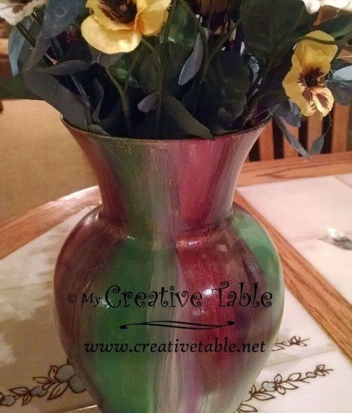 s transform cheap glass vases with these 17 stunning ideas, Give it color with Unicorn spit