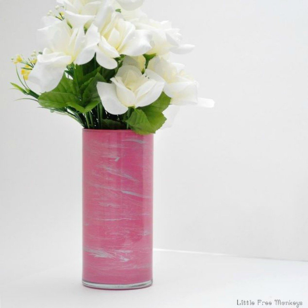 Transform cheap glass vases with these 17 stunning ideas hometalk spray paint the inside for a swirl effect this cheap vase reviewsmspy
