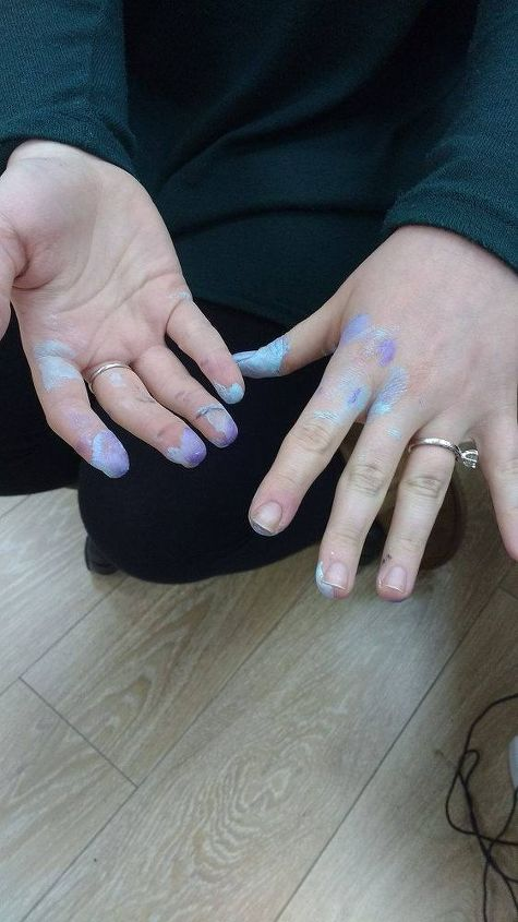 q how can i get spray paint off my hands, painting