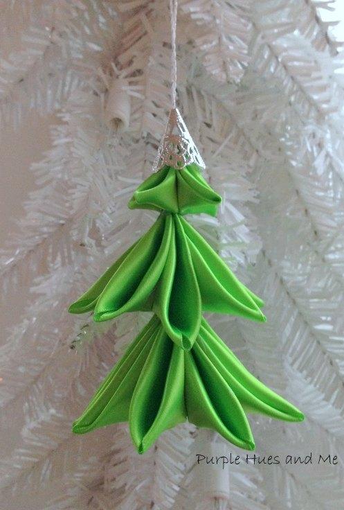 ribbon christmas tree ornament, christmas decorations, crafts, seasonal holiday decor