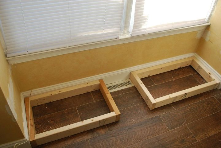 How To Make A Storage Seat From A Kitchen Cabinet