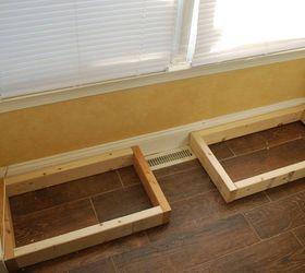 Beau Diy Window Bench Seat With Drawer Storage, Outdoor Furniture, Storage Ideas