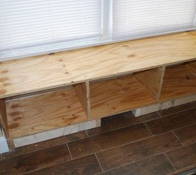 Superbe Diy Window Bench Seat With Drawer Storage, Outdoor Furniture, Storage Ideas