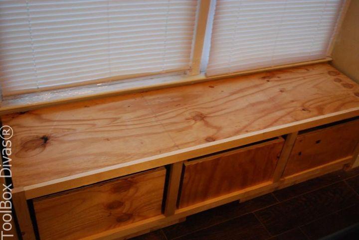 DIY Window Bench Seat With Drawer Storage | Hometalk