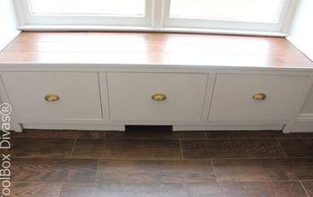 DIY Window Bench Seat With Drawer Storage