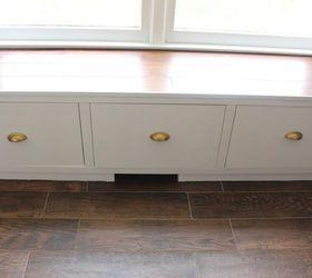Superior Diy Window Bench Seat With Drawer Storage, Outdoor Furniture, Storage Ideas