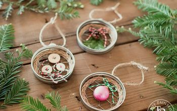 mason jar lid chicken wire christmas ornaments, christmas decorations, mason jars, seasonal holiday decor
