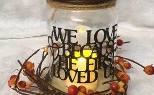 mason jar home decor, home decor, mason jars, Mason Jar light