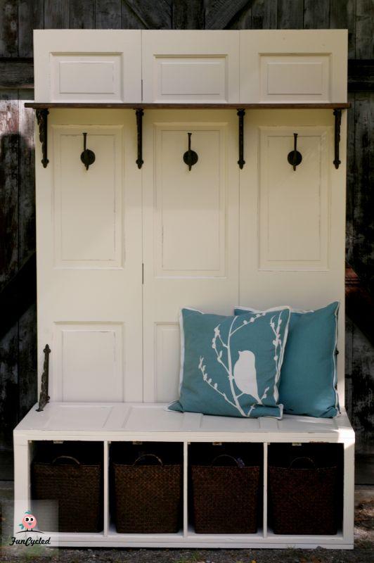 file cabinet turned mud room bench, foyer, kitchen cabinets, kitchen design, outdoor furniture