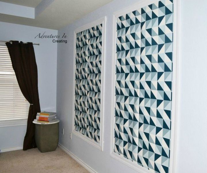 s 20 ways you never thought of using wallpaper, wall decor, Create geometric wall art