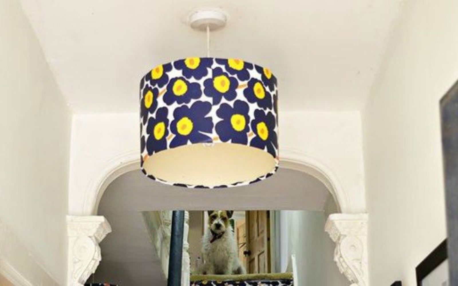 s 20 ways you never thought of using wallpaper, wall decor, Upcycle an old lampshade