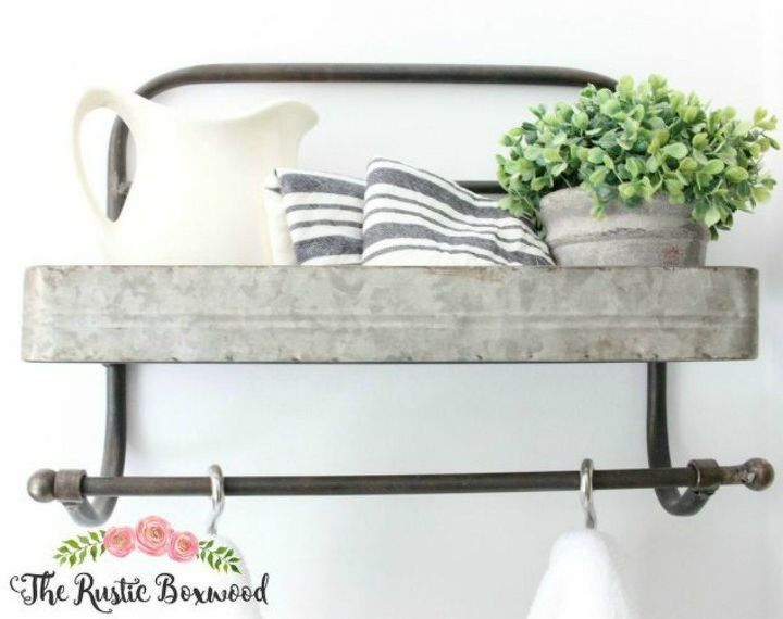 s how to get a gorgeous bathroom in less than three hours, bathroom ideas, how to, Attach rustic hanging baskets to the wall