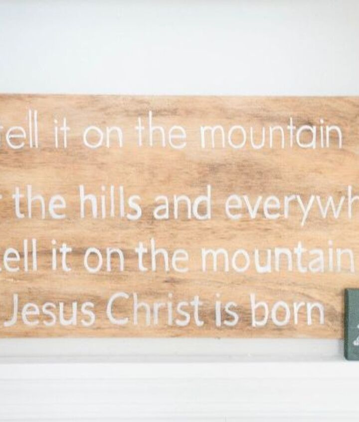 go tell it on the mountain sign, crafts