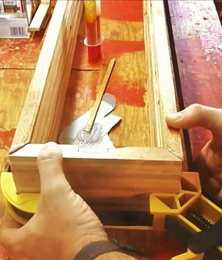 Use epoxy to glue the miters