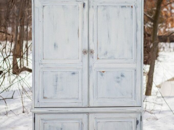 clunky tv armoire turned custom closet, closet, painted furniture
