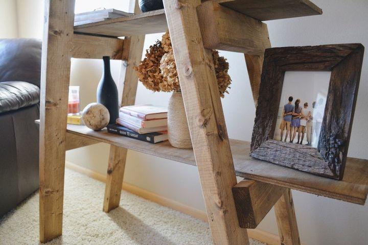 diy ladder shelf, shelving ideas