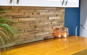 Laundry Room Backsplash From Reclaimed Pallets