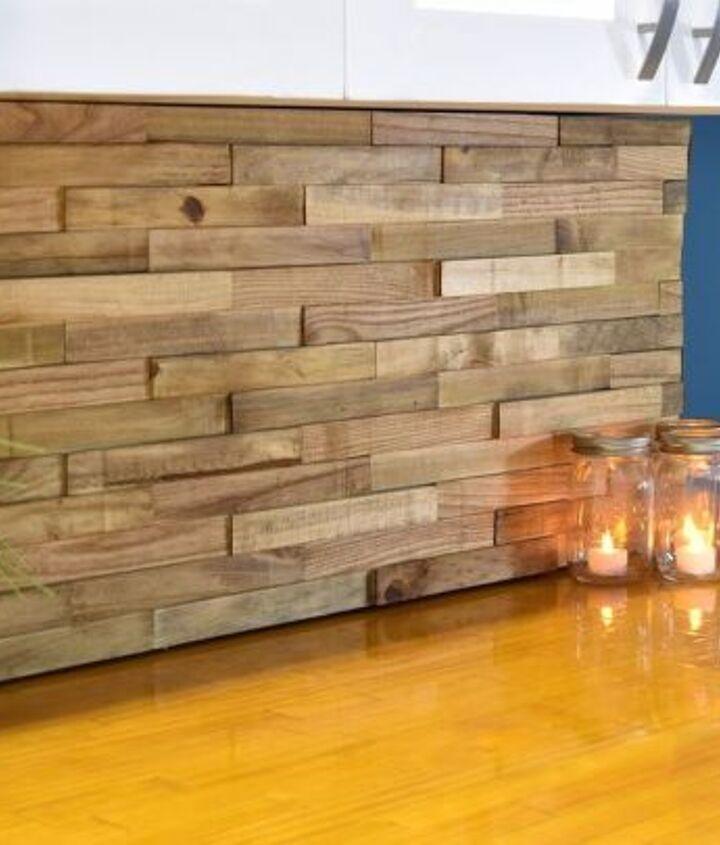 backsplash from reclaimed pallets, kitchen backsplash, kitchen design, pallet