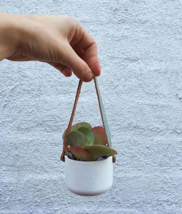 s 13 winter planter ideas for when you re missing your garden, gardening, A hanging plant for your window made from PVC