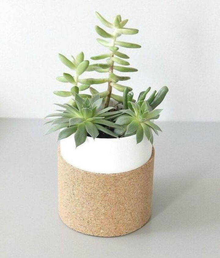 s 13 winter planter ideas for when you re missing your garden, gardening, A cork board sleeved glass planter