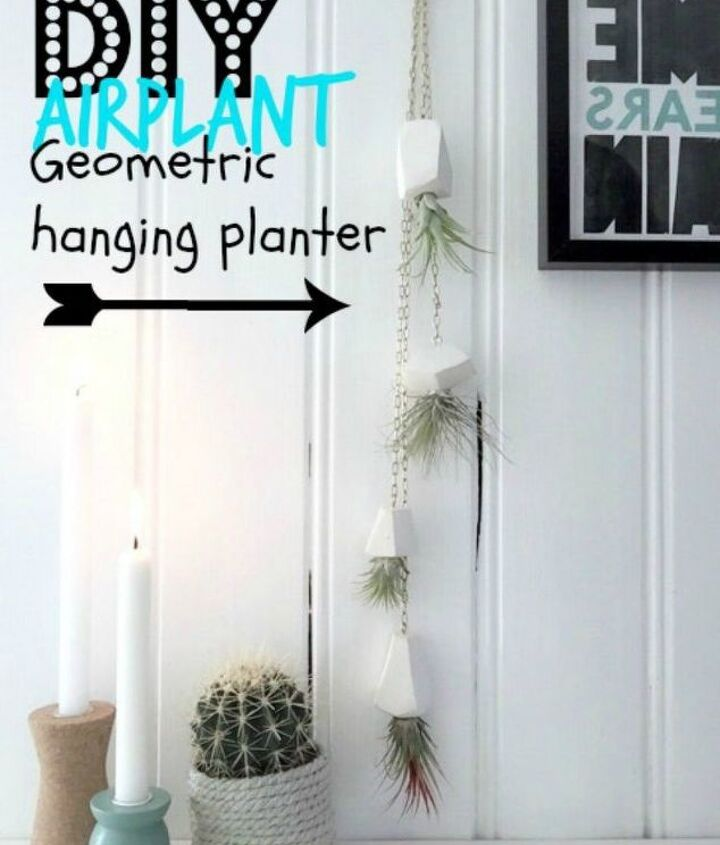 s 13 winter planter ideas for when you re missing your garden, gardening, A polymer clay hanging planter for air plants