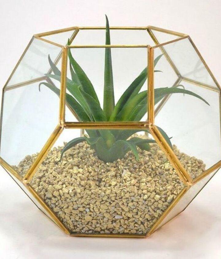 s 13 winter planter ideas for when you re missing your garden, gardening, A hexagonal desk terrarium for your succulent