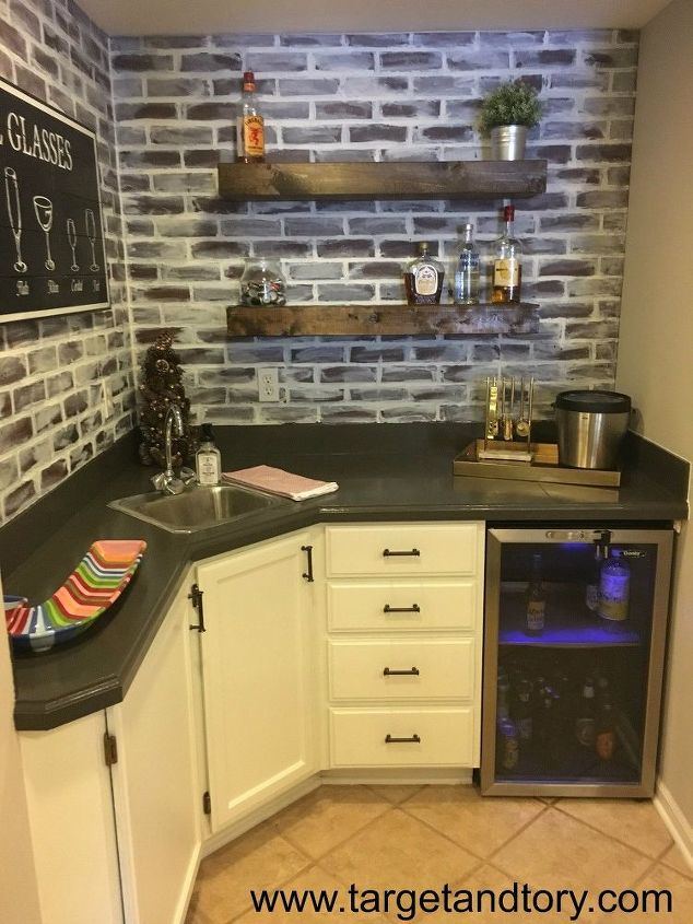 basement bar from outdated to updated, basement ideas, outdoor living