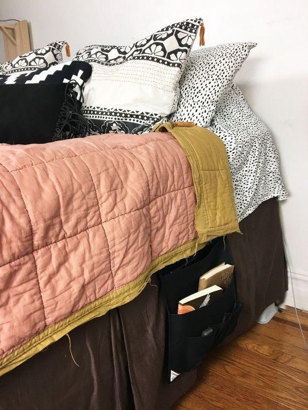Over the Door Organizer Turned Bedside Storage   Hometalk