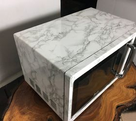 Faux Marble Microwave With Contact