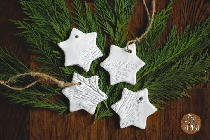 air dry clay ornaments, christmas decorations, seasonal holiday decor