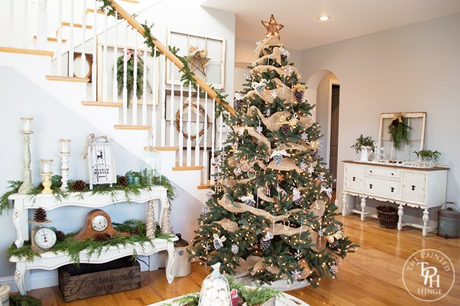 a farmhouse christmas home tour home decor - A Farmhouse Christmas