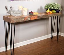 live edge wood glow table, painted furniture