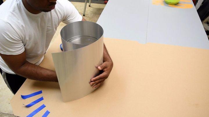 diy hand made led concrete lamp, concrete masonry, lighting, repurposing upcycling