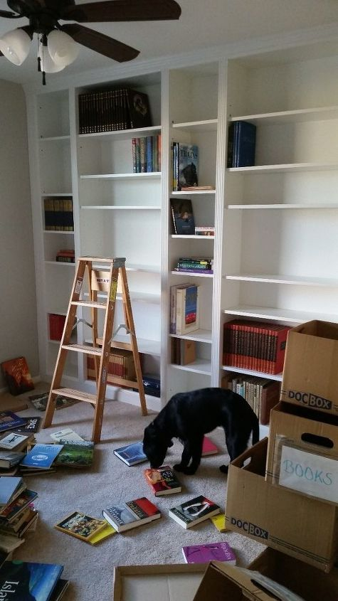 Diy Library Wall Billy Built In Bookcases Hometalk