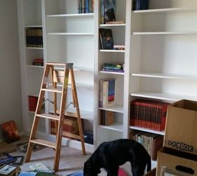 diy library wall billy built in bookcases closet