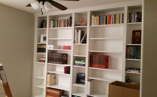 diy library wall billy built in bookcases, closet
