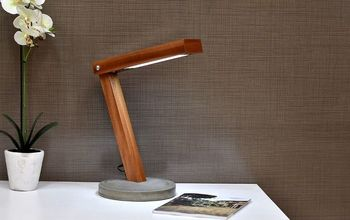 DIY Hand Made LED Concrete Lamp